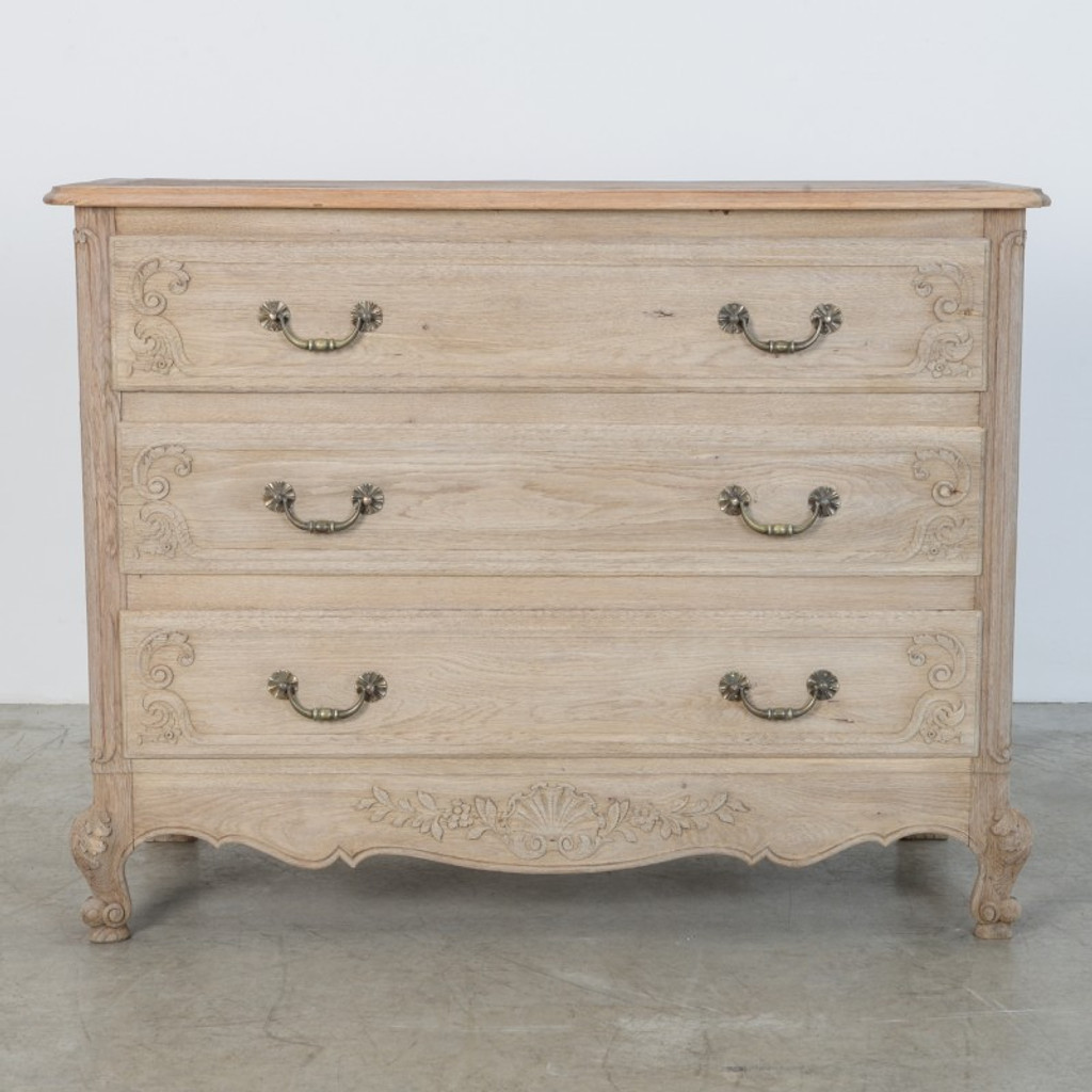 Vintage Bleached Oak Chest of Drawers