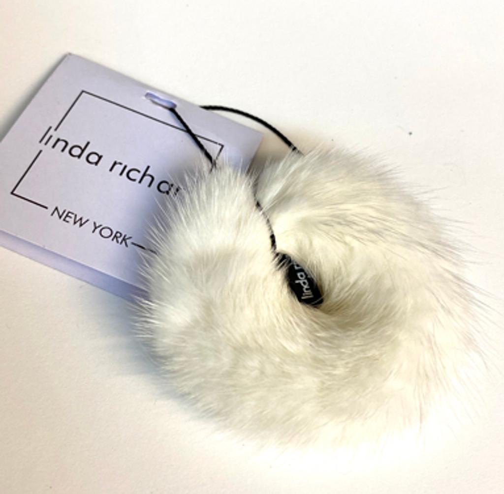 Mink Hair Scrunchie Cream