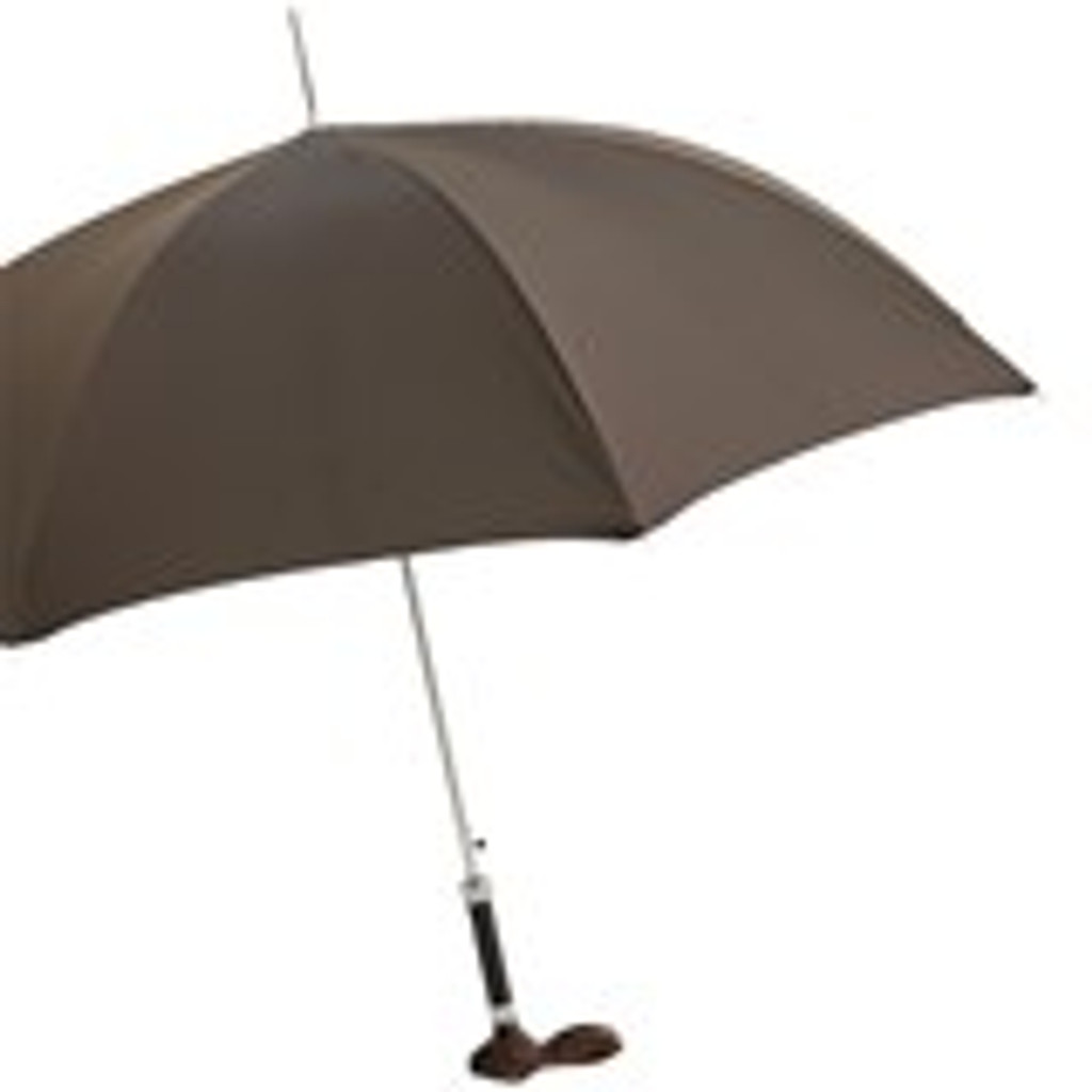 Brown Umbrella with Rabbit Handle