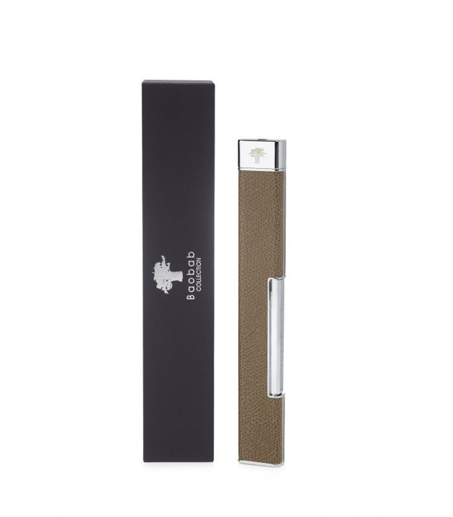 Taupe Leather Lighter