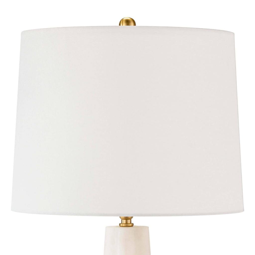 Quatrefoil Alabaster Table Lamp