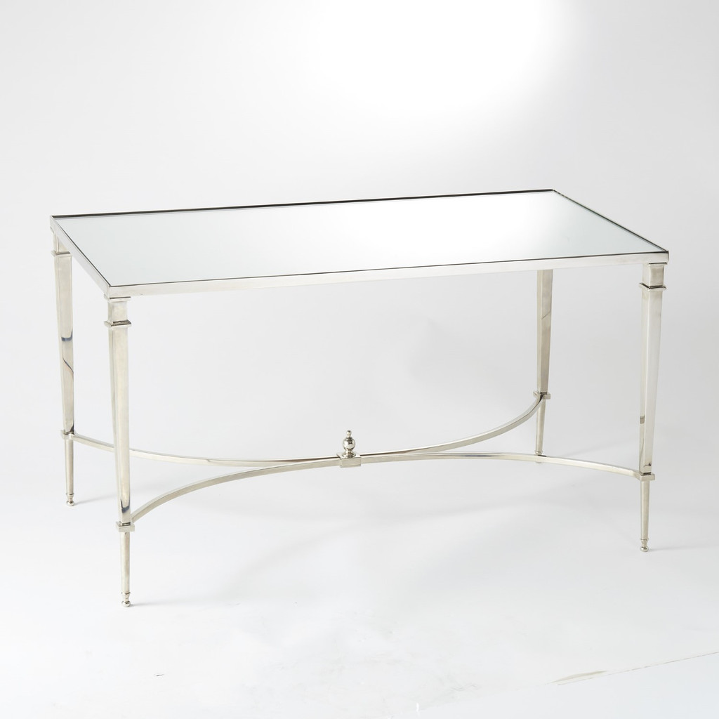 French Sq Leg Nickel Coffee Table