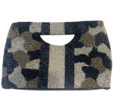 Blue-Silver Camo Handle Bag