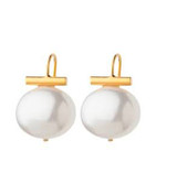 Pebble Pearl Earring