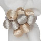Napkin Ring Metallic Bead