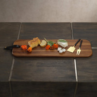 Cheese Board with Leather Strap