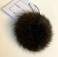 Mink Hair Scrunchie Brown