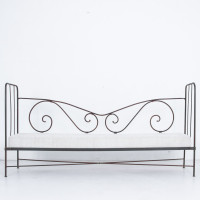 Antique French Iron Day Bed