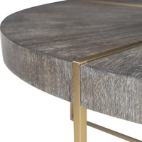 Brushed Brass Inlay Coffee Table