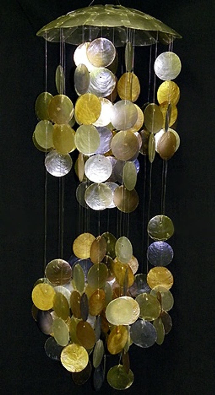 Olive Green Capiz Wind Chime