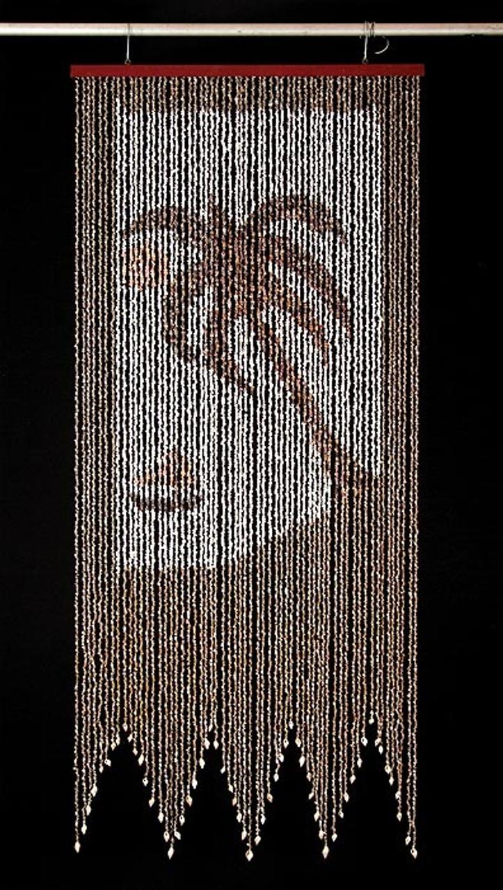 Palm Tree Shell Curtain