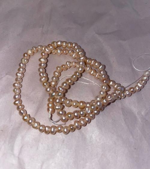 3mm Natural Pink  pearls