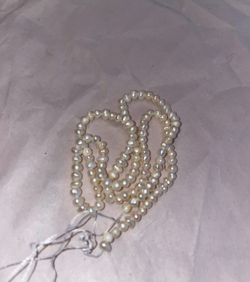 3mm Natural White Pearls