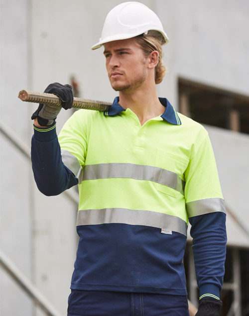 4001 Long Sleeve HiVis Day/Night Polo