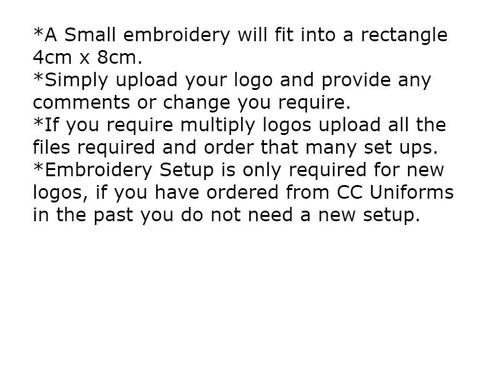 Small Embroidery Setup 4cm x 8cm