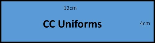 6cm x 12cm basic lettering