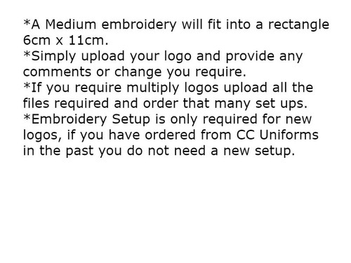 Medium Embroidery Setup 6cm x 11cm