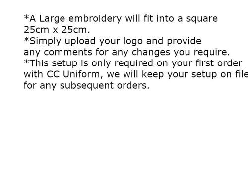Large Embroidery Setup 25cm x 25cm