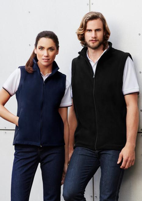 3077 Ladies Plain Micro Fleece Vest