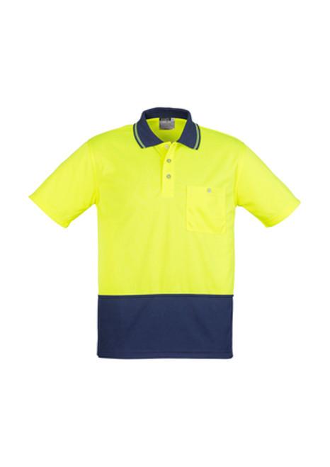 4058 Unisex Hi Vis Basic Spliced Polo