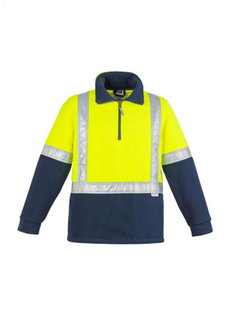 3095 Men's 1/2 Zip Hi Vis Pullover with Taped Shoulders
