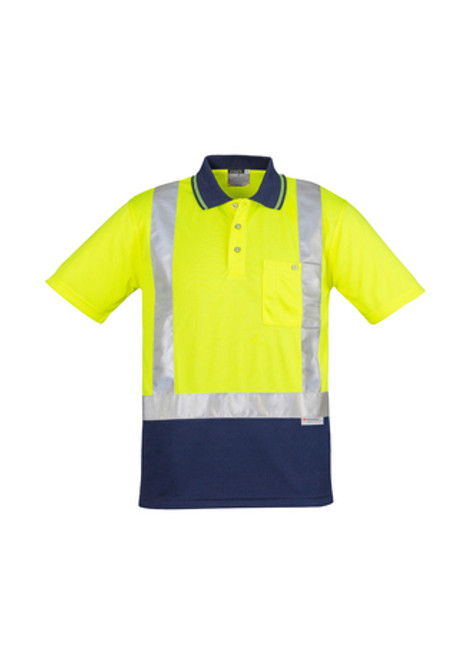 4126 Men's Taped Hi Vis Polo