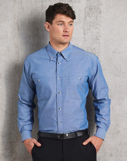 5099 Men's L/S Chambray Shirt