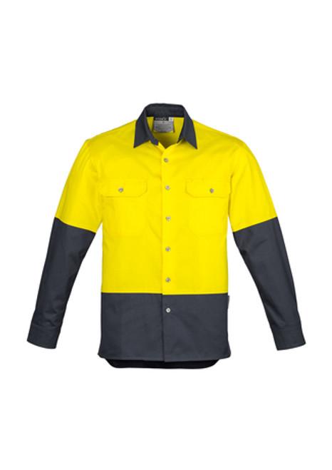 5128 Men's L/S Hi Vis Spliced Industrial Shirt