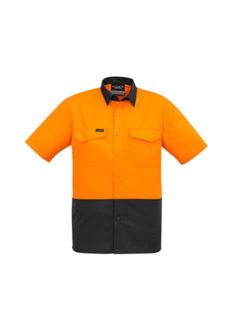 5129 Men's S/S Hi Vis Spliced Industrial Shirt
