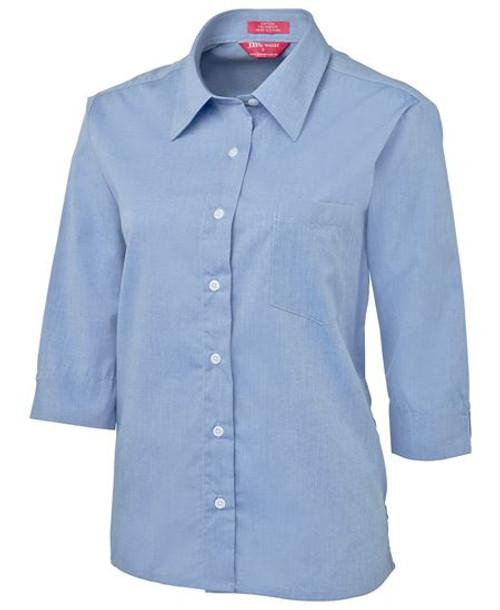 6088 Ladies Original 3/4 Sleeve Chambray Shirt