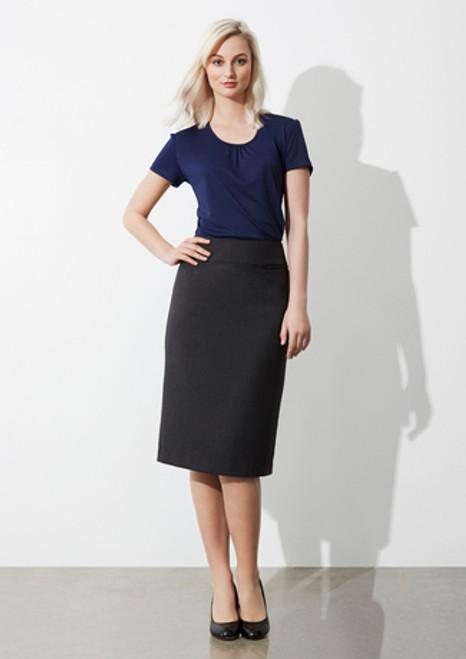 8009 Ladies Classic Below Knee Skirt
