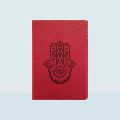 Medium Lined Writing Journal with Hamsa