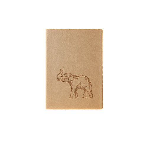 Medium Lined Writing Journal with Elephant