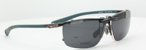 Cortar bolita Escupir  Custom made for NIKE prescription Rx eyeglasses: NIKE 6055-2-57X12-T  Polarized Clip-On Sunglasses