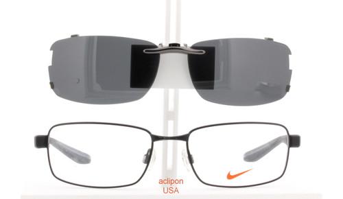 Lima Regulación pico  Custom made for NIKE prescription Rx eyeglasses: NIKE 8175-56X18-T  Polarized Clip-On Sunglasses