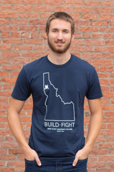 Build Fight Idaho Border T-Shirt (navy)