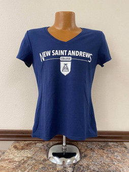 Front-Emblazoned Logo T-Shirt (navy)