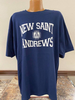 Arched Font T-Shirt (navy)