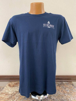 Front Logo, Back Build Fight T-Shirt (navy)