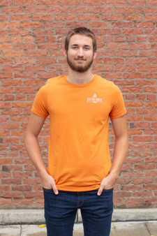 Front Logo, Back Build Fight T-Shirt (orange)