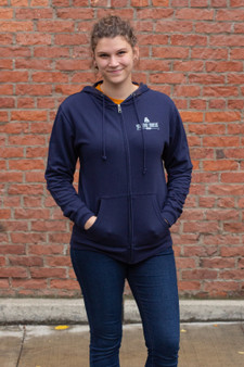 Build Fight Zip Hoodie (navy)