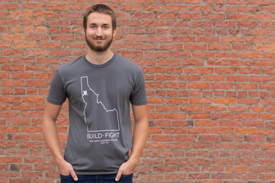 Build Fight Idaho Border T-Shirt (gray)