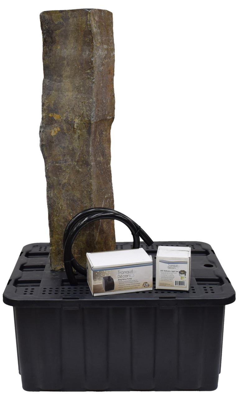 Tranquil Decor Polished Top Single Basalt Kit - 35 inch