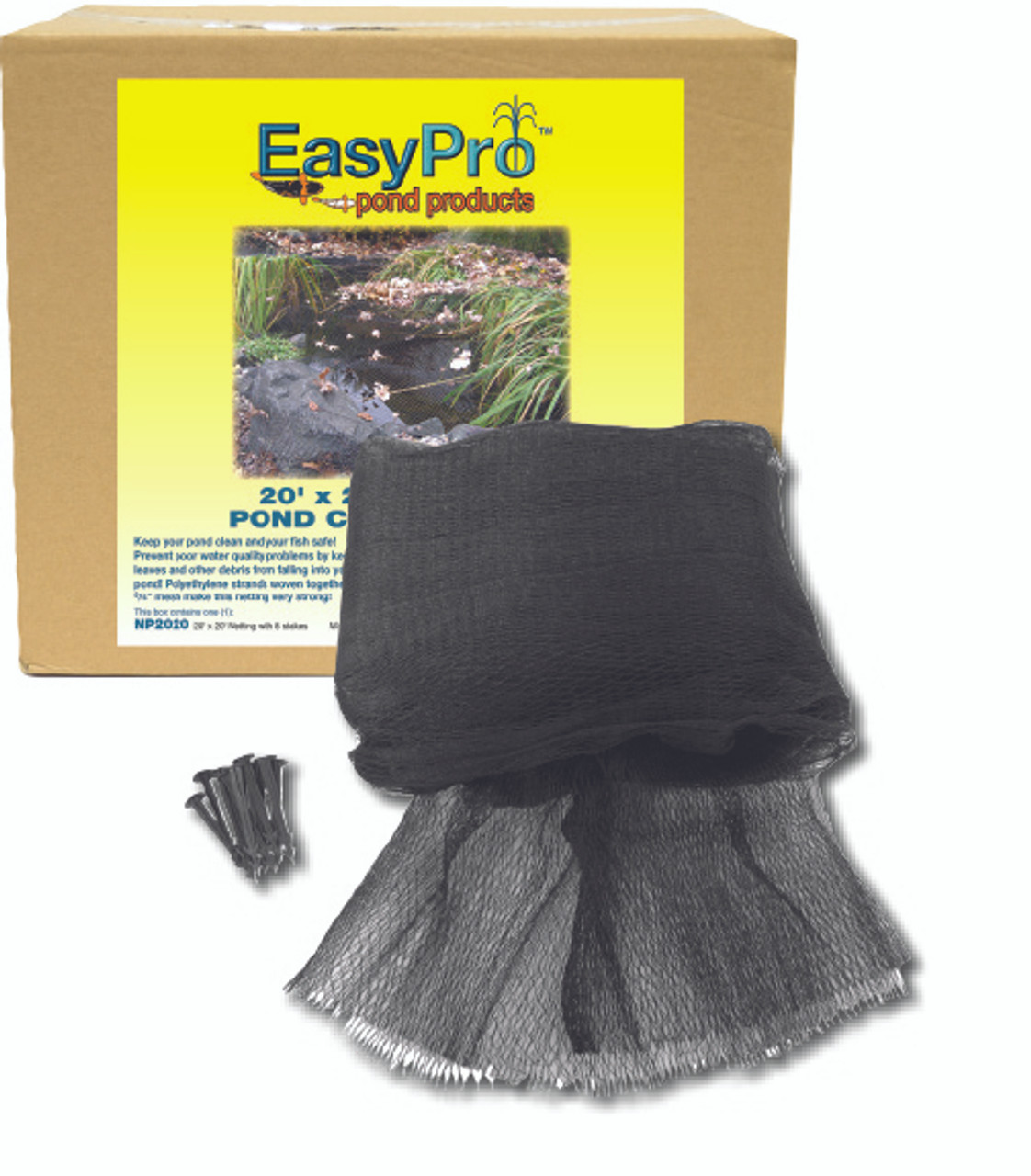 3/4-in. EasyPro Premium Pre-Cut Pond Netting w/ Stakes