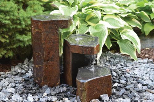 Tranquil Decor Keyed Spillway Basalt Fountains