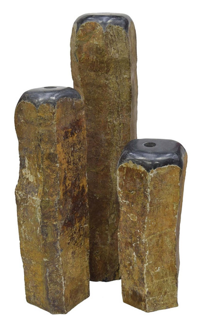 Dome top basalt fountains are available with or without the  basin, pump, etc.