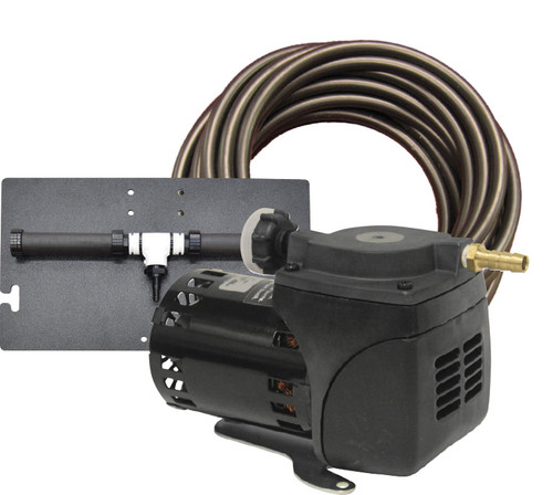 1/20 HP Gast Diaphragm Air Compressor Kit with Tubing and Cabinet
