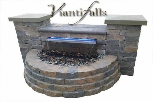 "23-1/2"" Vianti Falls Spillway Kit w/ Blue LED Light"