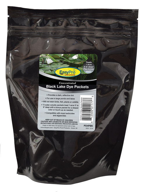 EasyPro Concentrated Black Pond Dye - Powder - 4 pack