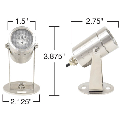 Cabrio Color Changing LED Stainless Submersible Light (FREE SHIPPING)